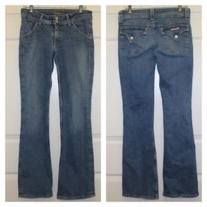 Hudson wide leg medium wash jeans